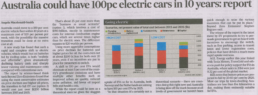 100pc electic cars in 10 years